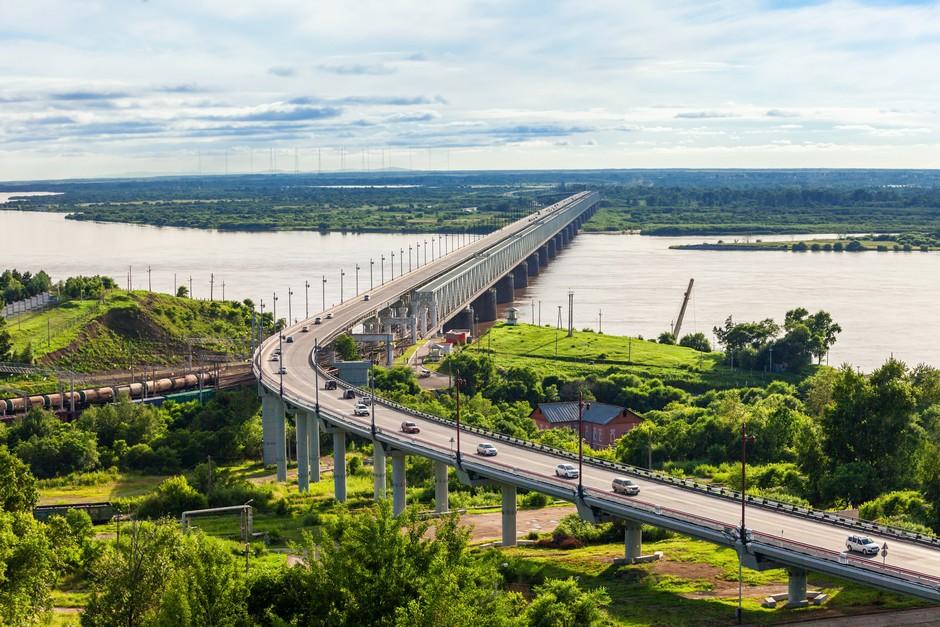 Pont au dessus de l'Amur