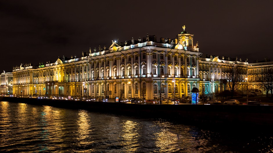 Musée de l'Hermitage la nuit
