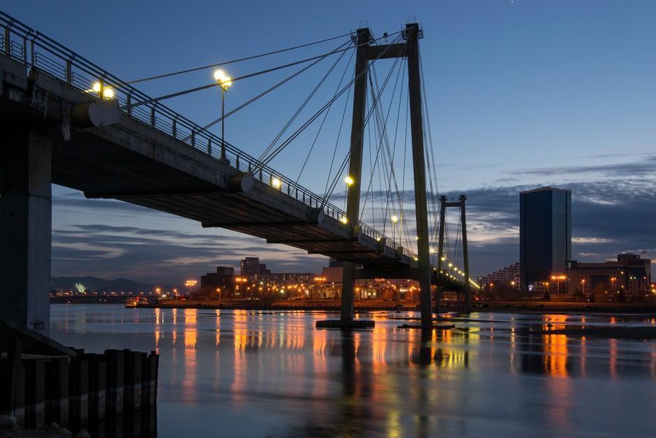 Pont au dessus de la rivière Yenisei
