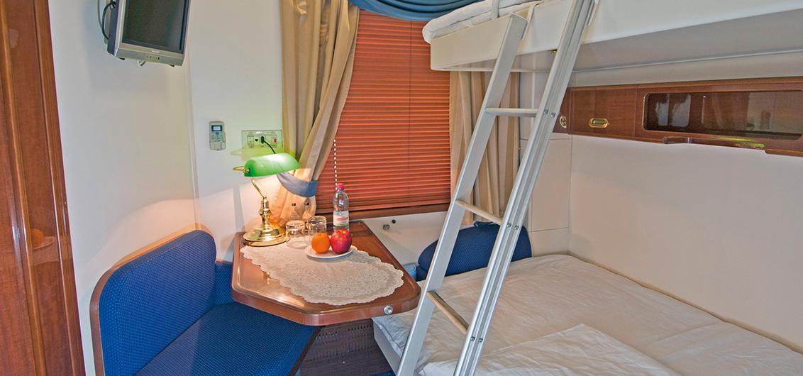 2 lits : inférieur et supérieur