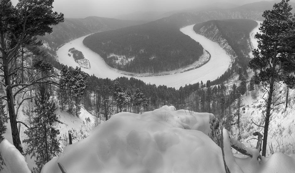 Rivière près de Krasnoïarsk