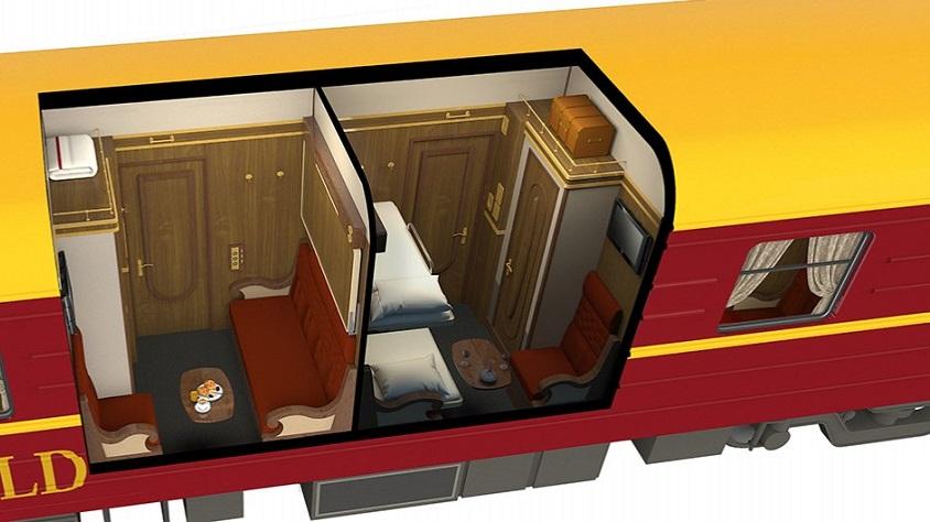 Plan du wagon des compartiments